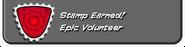 Epic Volunteer Earned