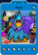 Thorn Player Card - Late October 2018 - Club Penguin Rewritten