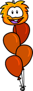 Orange Puffle Balloon