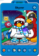 Skyver Player Card - Early December 2019 - Club Penguin Rewritten