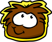 Brown Puffle Pet Shop Sign