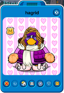 Hagrid Player Card - Late October 2019 - Club Penguin Rewritten
