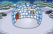 Christmas Party Igloo Background