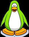 Lime Green Town Penguin