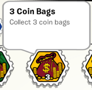3 coin bags stamp book