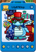 Lily8763cp Player Card - Mid September 2018 - Club Penguin Rewritten