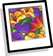 Bright Flowers Background Icon