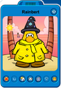 Rainbert Player Card - Late August 2019 - Club Penguin Rewritten