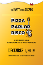 Pizza Parlor Disco 2019 Poster