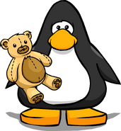 Teddy Bear on a Player Card
