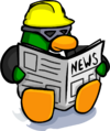 Newspaper Construction Worker