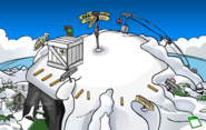 Puffle Party 2020 construction Ski Hill