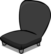 Black Plush Chair sprite 002
