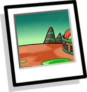Alien World Background Icon