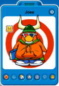 Joee Player Card - Early December 2018 - Club Penguin Rewritten