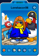 Lovebacon56 Player Card - Late March 2020 - Club Penguin Rewritten