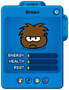 Low Brown Puffle Card