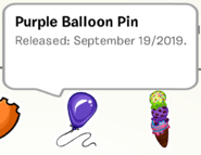Purple Balloon Pin SB