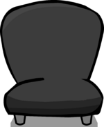 Black Plush Chair sprite 001