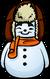 Orange Scarf Snowman