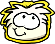 White Puffle Pet Shop Sign