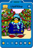 Lily8763cp Player Card - Early December 2018 - Club Penguin Rewritten