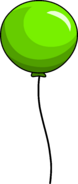 Puffle Launch Green Balloon