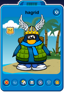 Hagrid Player Card - Late March 2020 - Club Penguin Rewritten