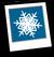 Snowflakes Background Icon