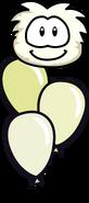 White Puffle Balloon