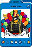 Halopona Player Card - Late October 2019 - Club Penguin Rewritten