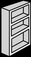 White Bookcase sprite 009