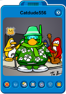 Catdude556 Player Card - Late August 2019 - Club Penguin Rewritten