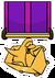 Cart Surfer Medal Pin