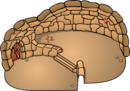 Sand Split Level Igloo