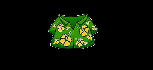 Camisa Hawaiana Con Flores Naranjas Wiki Club Penguin Super Fanon