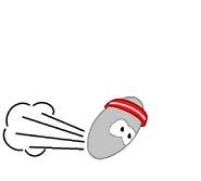 Grey snuffle playing