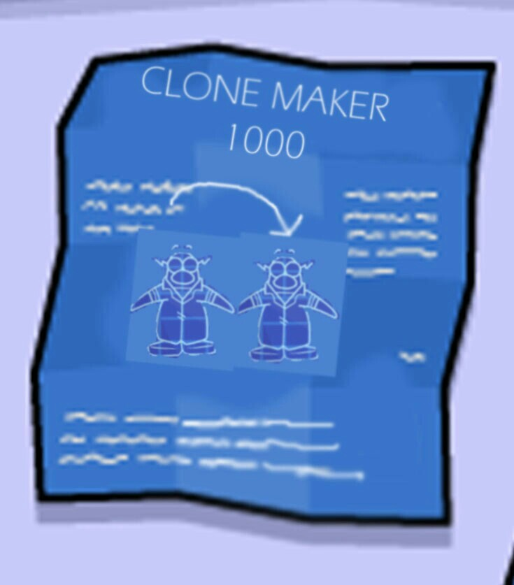 User blogpixielilfirst post and an interesting invention club clone maker 3000 blueprints malvernweather Choice Image