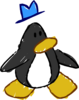 Doodle Dimension penguin Black hat