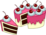 Puffle Care catalog icons Food 8 peice cake