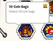 10 coin bags stamp book