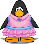 Audrey's Outfit on a Player Card
