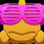 Pez con gafas emoji