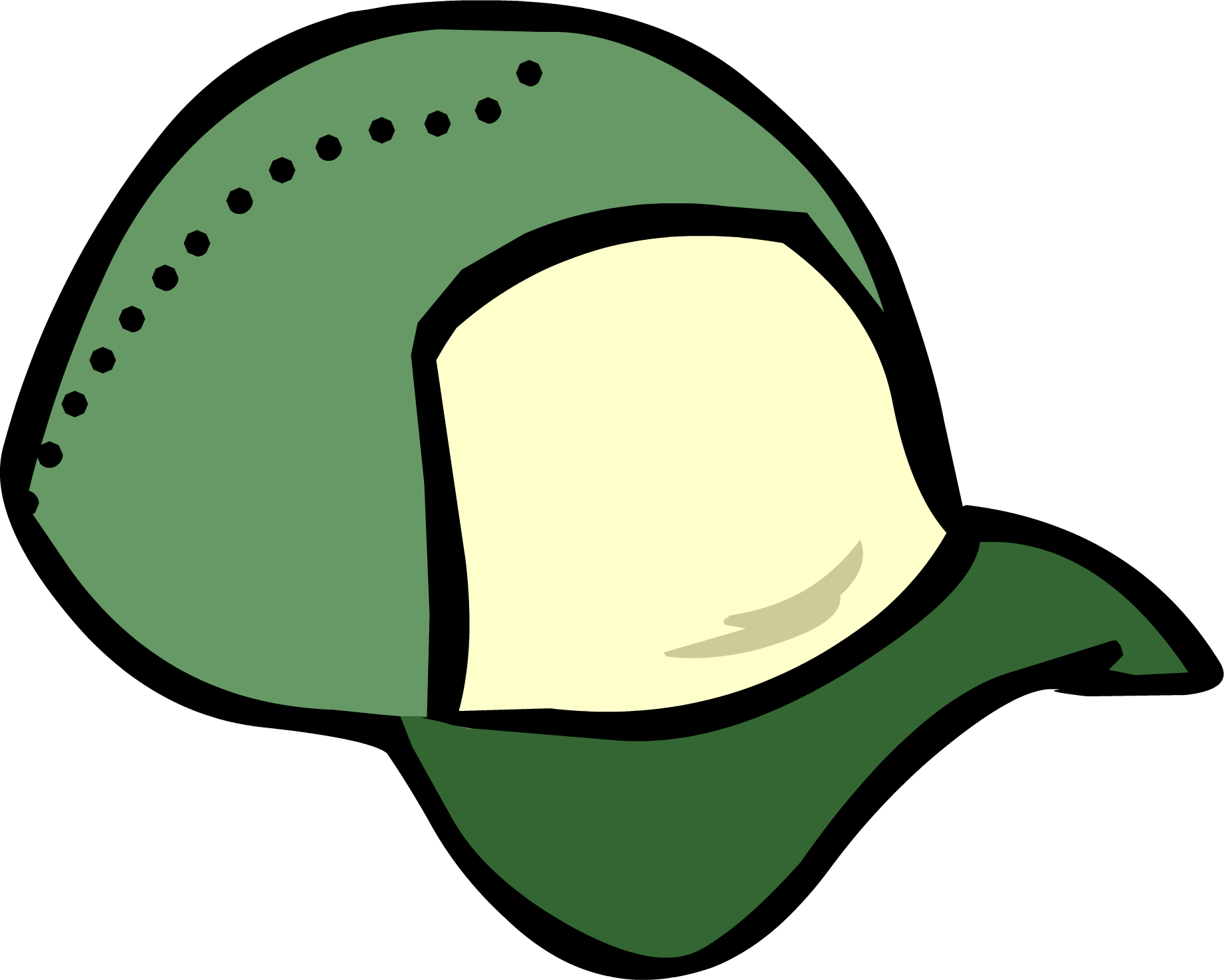 Image result for club penguin green ball cap