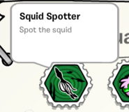 Squid spotter stamp book