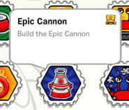 Epic cannon stamp book