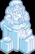 Escultura de Nieve Hermosa Morsa 1