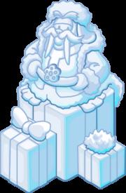 Escultura de Nieve Hermosa Morsa icono