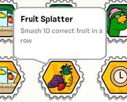 Fruit splatter stamp book