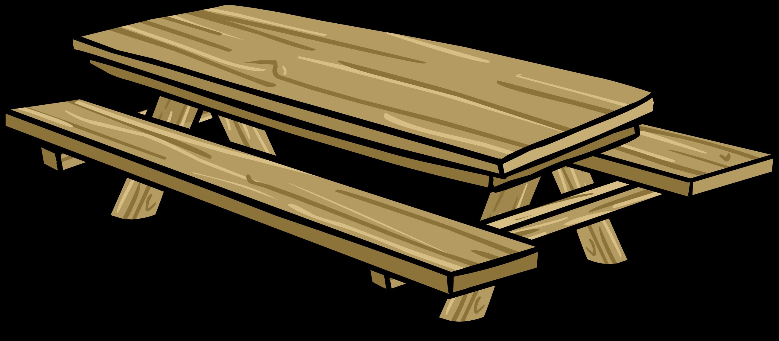image picnic table sprite 003 png club penguin wiki fandom rh clubpenguin wikia com Picnic Basket Clip Art picnic table with food clipart